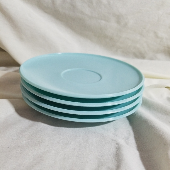 Vintage Other - Vintage Melmac Futura Saucers | Blue | set of 4